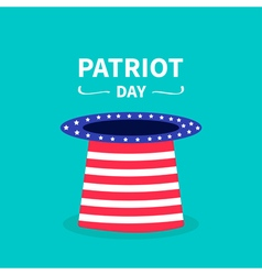Hat text patriot day vector