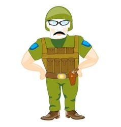 Soldier with weapon vector