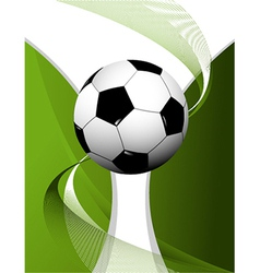 Abstract football background with cup vector image vector image