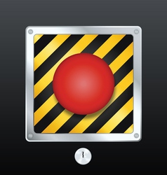 alarm button vector image vector image