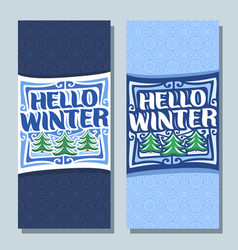 banners for winter season vector image vector image