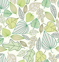 Beautiful spring leaves seamless pattern vector image vector image