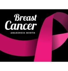 Breast cancer awareness symbol vector image vector image