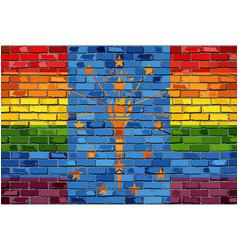 brick wall indiana and gay flags vector image
