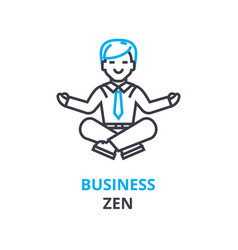 business zen concept outline icon linear sign vector image vector image