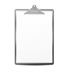 clipboard with paper blank sheet of paper vector image vector image
