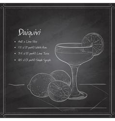 Cocktail daiquiri on black board vector