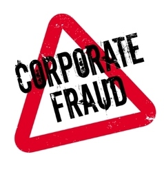 Corporate fraud rubber stamp vector