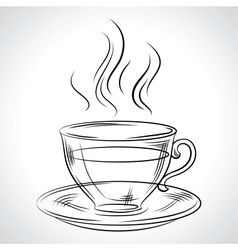 Cup mug of hot drink coffee tea etc vector image
