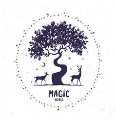 deer magic vector image