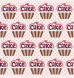 delicious colorful cupcakes vector image