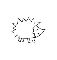 Doodle hedgehog animal icon vector