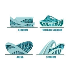 Exterior view on soccer or football stadium vector image vector image