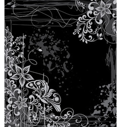 grunge floral vector image vector image