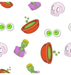 Halloween elements pattern cartoon style vector