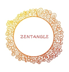 Hand drawn zentangle document template vector image vector image