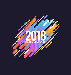 Holiday new year card - 2018 3 vector