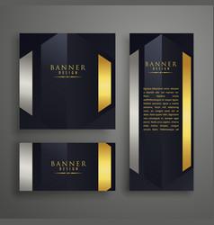 luxury invitation card design set vector image vector image