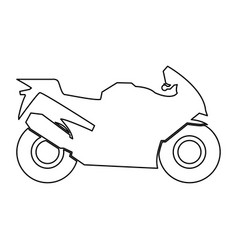 motorcycle black color path icon vector image