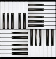piano keyboard square seamless pattern vector image