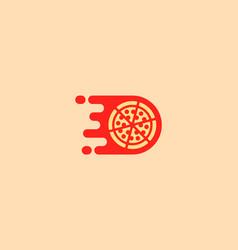 pizza logotype pizzeria logo design vector image