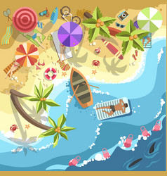 Relax on sea beach people on resort vector