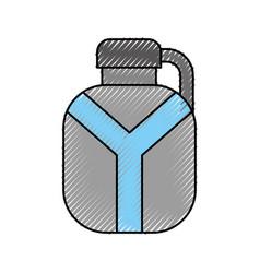 Safari canteen isolated icon vector