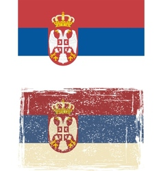 Serbian grunge flag vector image vector image