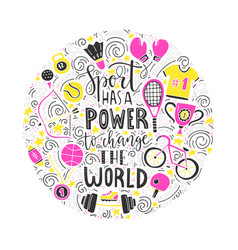 sport has power vector image