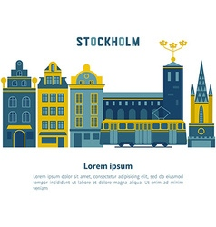 Stockholm city vector