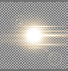 Sunrise light effect golden color vector