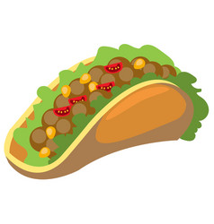 Taco logo traditional mexican cuisine vector