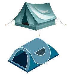 tents camping summer rest tents vector image vector image