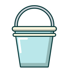 Water bucket icon cartoon style vector