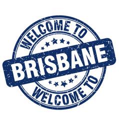 Welcome to brisbane blue round vintage stamp vector