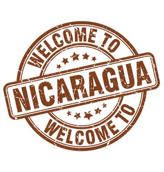 welcome to nicaragua vector image vector image