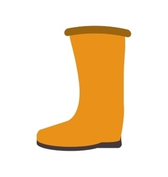 Industrial boots icon vector