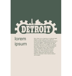 Detroit word build in gear vector