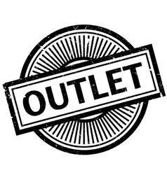 Outlet rubber stamp vector image