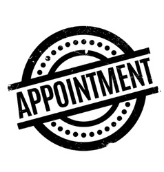 Appointment rubber stamp vector