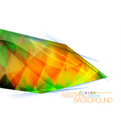 Abstract multicolored square shape vector