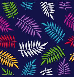 Tropical summer jungle plant color background art vector