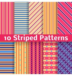 Different striped seamless patterns tiling vector image