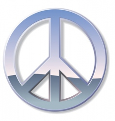 chrome peace sign vector image