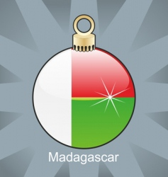 Madagascar flag on bulb vector