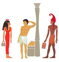 Ancient Egyptian-Greek market negotiations vector image