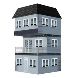 3d design for house painted in gray vector