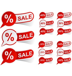 Sale red tags vector