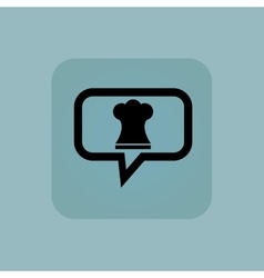 Pale blue chef hat message vector