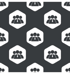 Black hexagon user group pattern vector